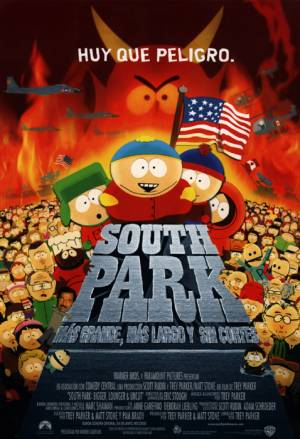 Cartel de South Park: más grande, más largo y sin cortes