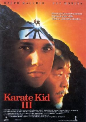 Cartel de Karate Kid III: el desafio final