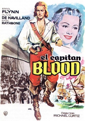 Cartel de El capitán Blood