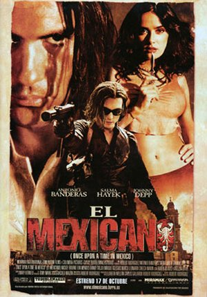 Cartel de El mexicano (Once upon a time in Mexico)