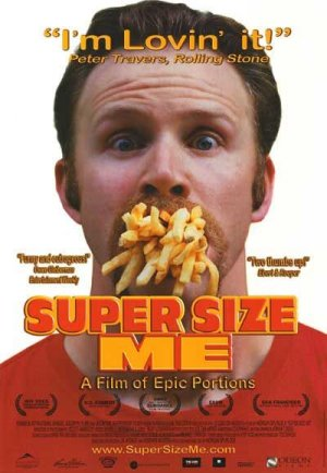 Cartel de Super size me