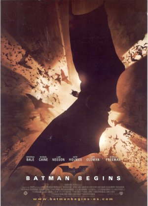 Cartel de Batman begins