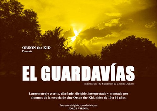 Cartel de El guardavías