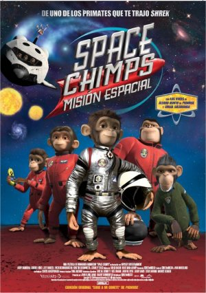 Cartel de Space chimps: Misión espacial