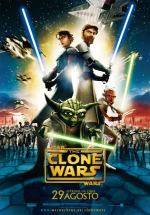 Cartel de Star Wars: The clone Wars