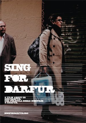 Cartel de Sing for Darfur