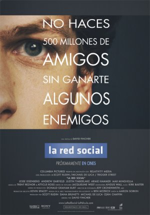 Cartel de La red social