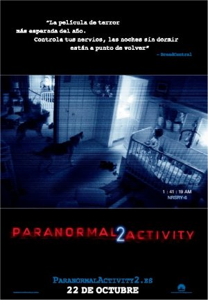 Cartel de Paranormal activity 2