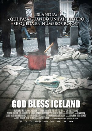 Cartel de God bless Iceland