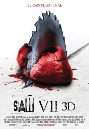 Cartel de Saw VII 3D