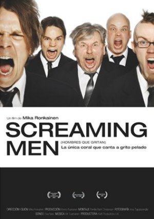 Cartel de Screaming men (hombres que gritan)