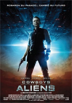 Cartel de Cowboys & aliens