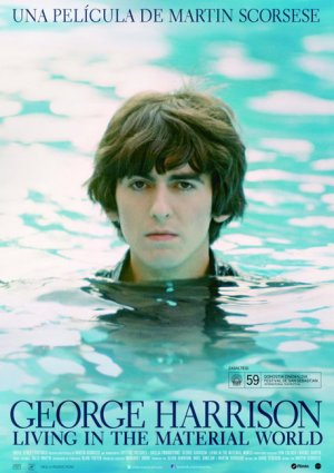 Cartel de George Harrison. Living in the material world