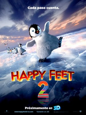 Cartel de Happy feet 2