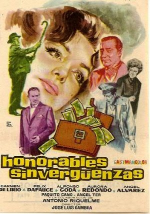 Cartel de Honorables sinvergüenzas