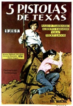 Cartel de Cinco pistolas de Texas