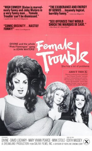 Cartel de Female Trouble (Cosa de hembras)