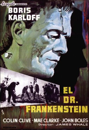 Cartel de El doctor Frankenstein