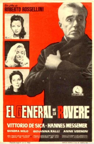 Cartel de El general de la Rovere