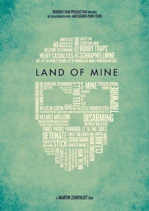 Cartel de Land of mine: Bajo la arena