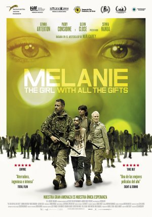 Cartel de Melanie. The girl with all the gifts